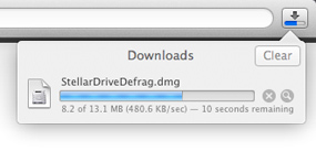 1. Download Stellar Defrag Mac.
